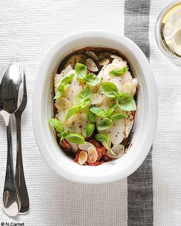 Chinchards en filets, tian de légumes
