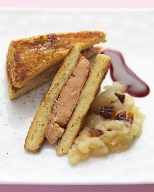 Pain perdu au foie gras poêlé