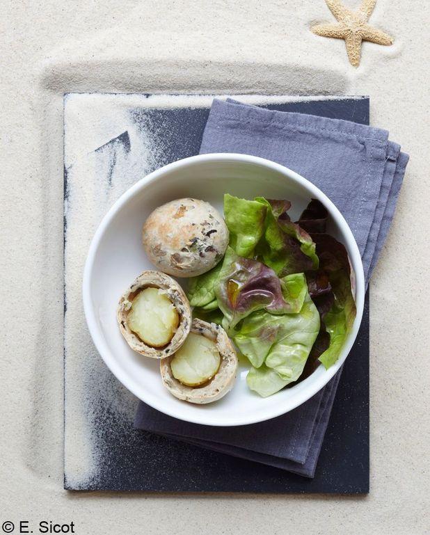 Pommes de terre en croûte d'algues