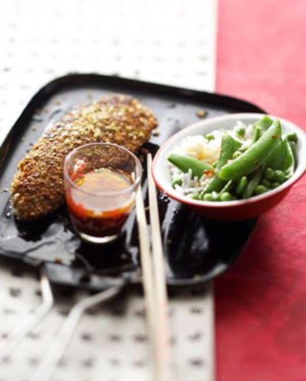 Poulet pané aux cacahuètes wasabi