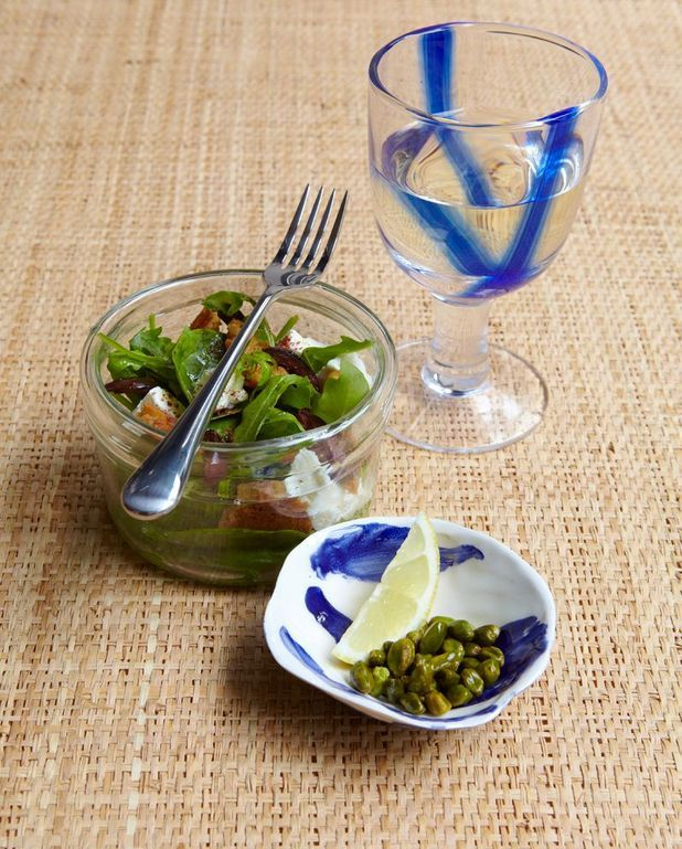 Salade feta-pistaches