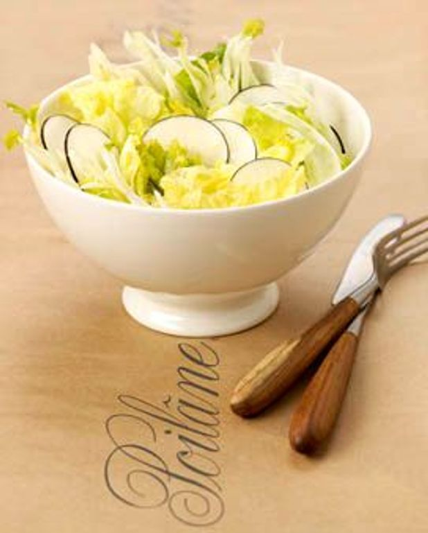 Salade trois crudités et citronnette