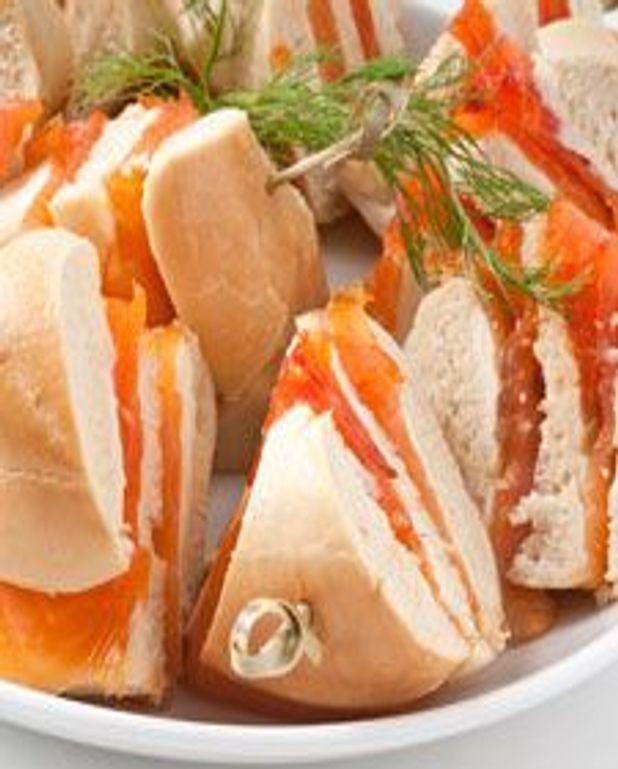 Bagel de saumon et citron