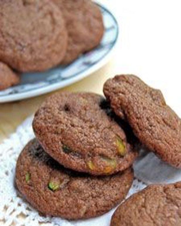 Biscuits chocolat et pistaches