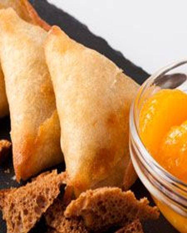 Brick aux mandarine et pain d'épice