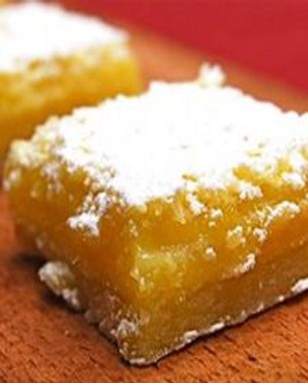 Carrés crémeux au citron et au gingembre