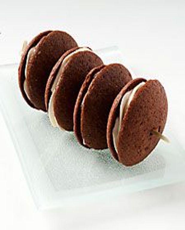 Choco-whoopies et crème vanille