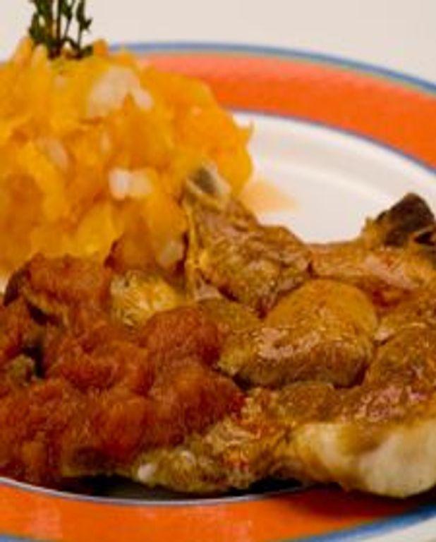 Côtelettes de porc, sauce chili