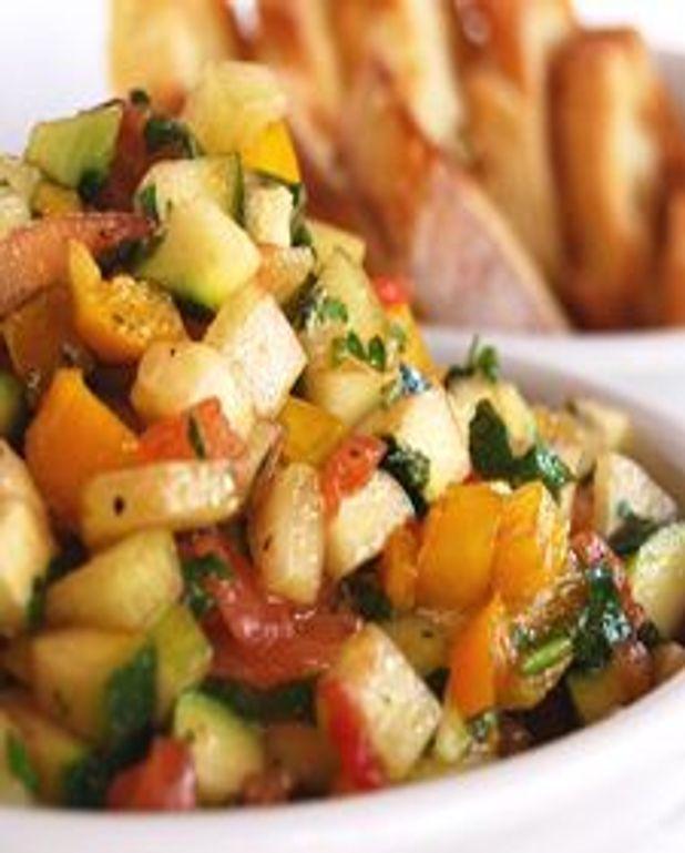 Crostinis au tartare de légumes