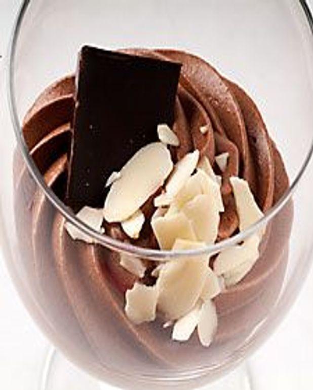 Dessert chocolat, saveur amande