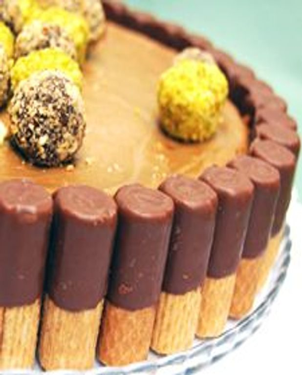 Gâteau au fromage aux chocolat et tourbillon de café