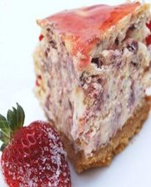 Gâteau au fromage - version fraises séchées :
