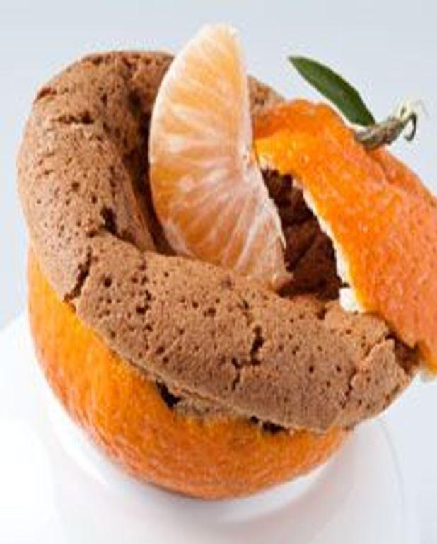 Gâteau chocolat et compote de clémentines