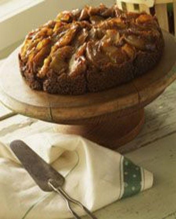 Gâteau renversé en pain d'épice