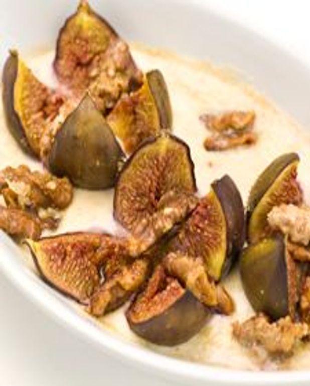 Gratin de figues aux noix