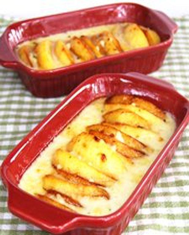 Gratin de fromage de brebis et de pommes
