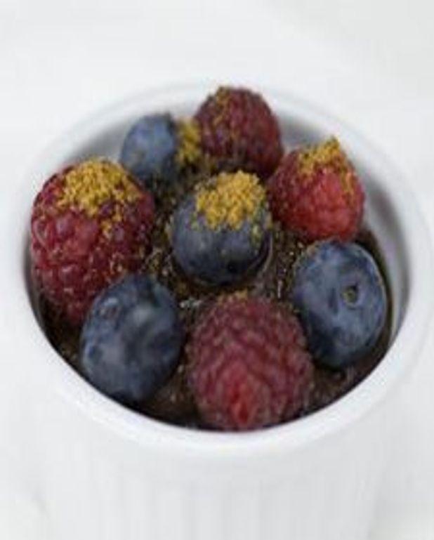 Gratins de chocolat aux petits fruits