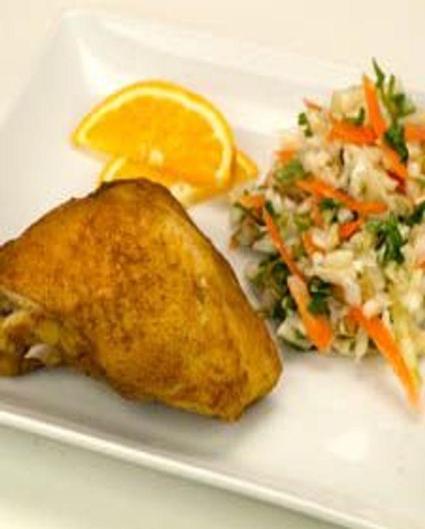 Hauts de cuisse de poulet aux épices douces