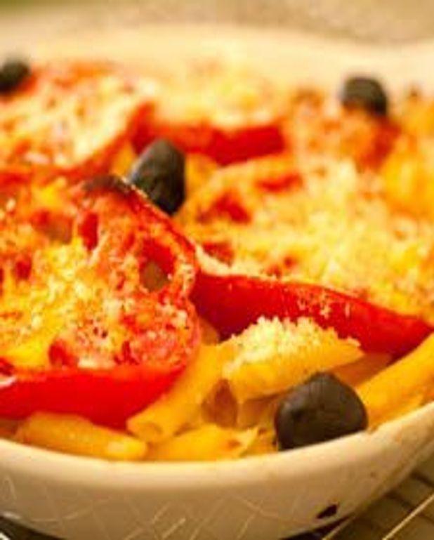 Macaronis et légumes en gratin d'été