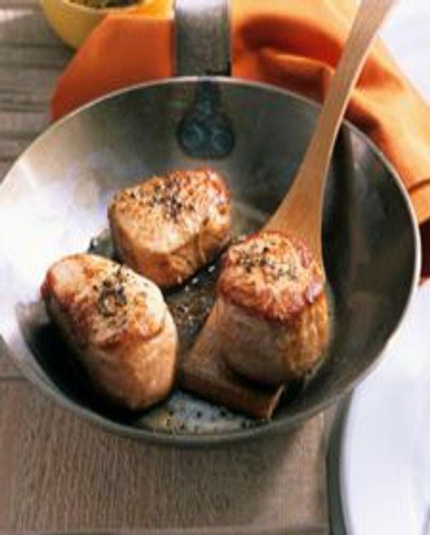 Médaillons de porc miel-agrumes