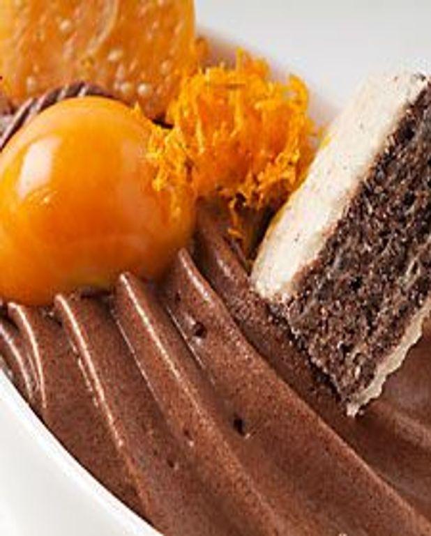 Mousse chocolat aromatisée à l'orange
