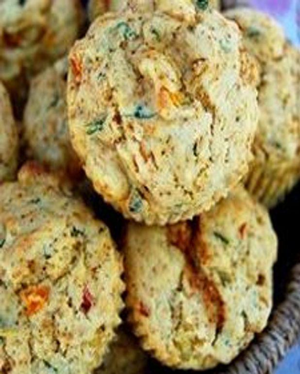Muffins au maïs et aux poivrons