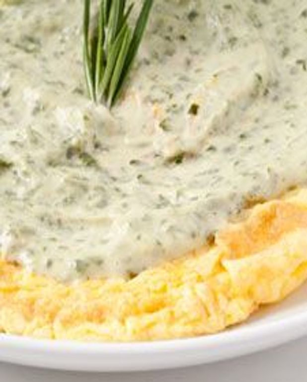Omelette au fromage aux herbes