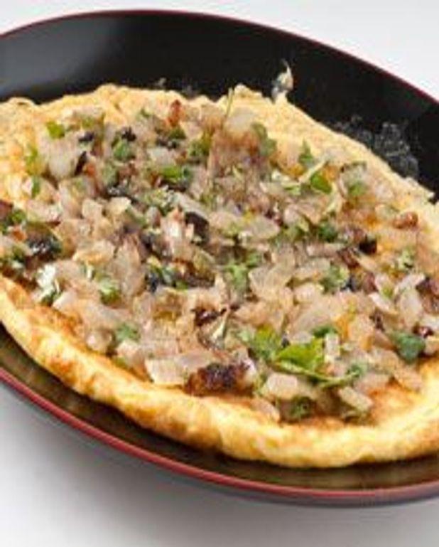 Omelette aux oignons rôtis et balsamique