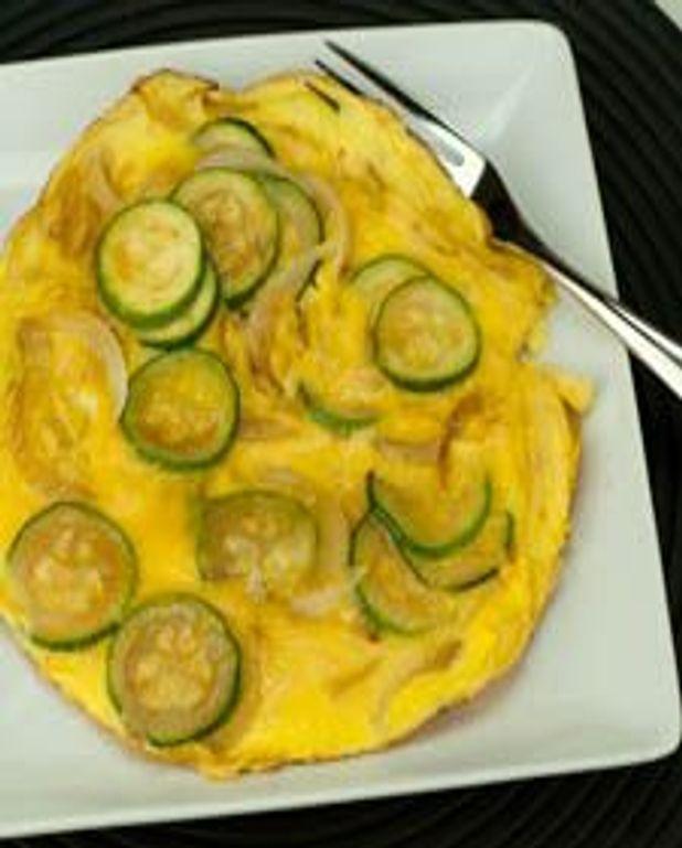 Omelette d'été à la courgette