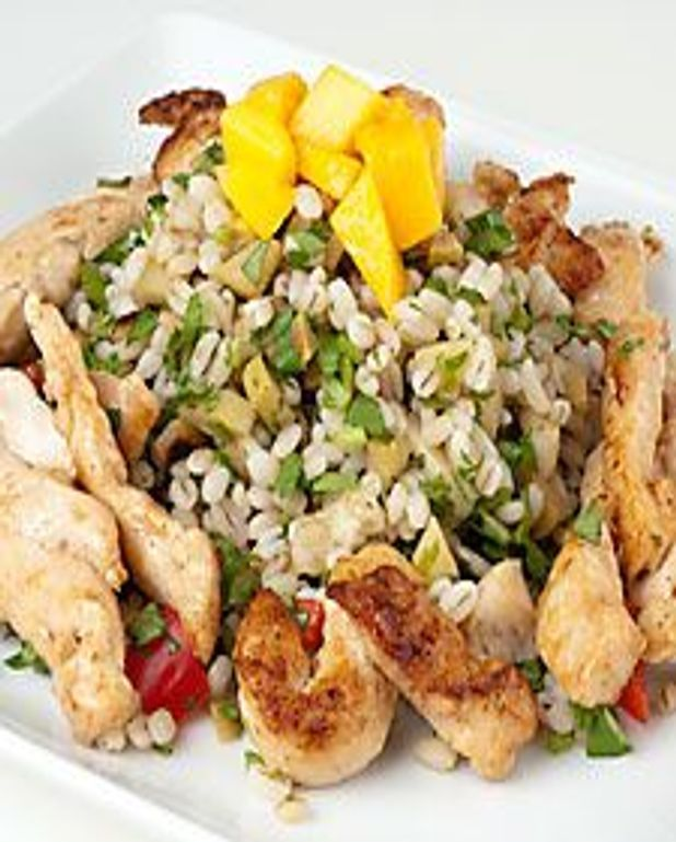 Orge et poulet en salade