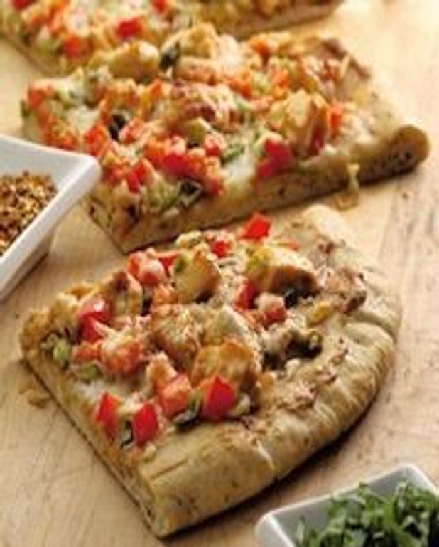 Pizza à croûte de blé entier