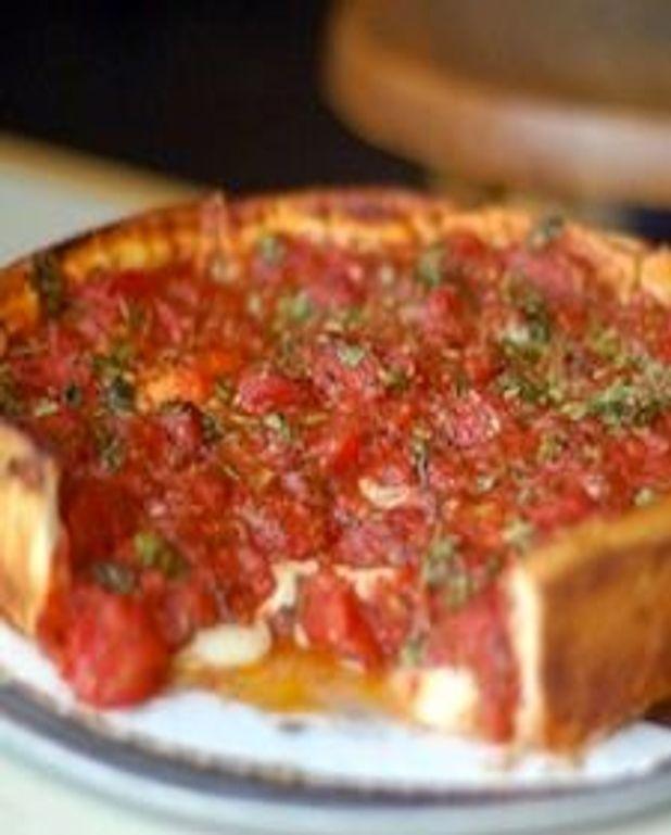 Pizza de blé entier style Chicago