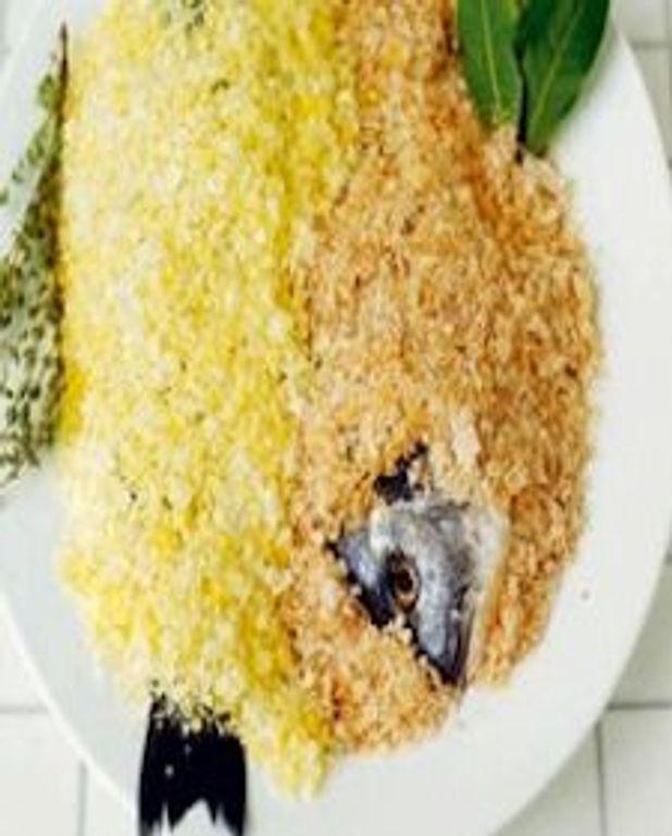 Poisson cuit dans le sel