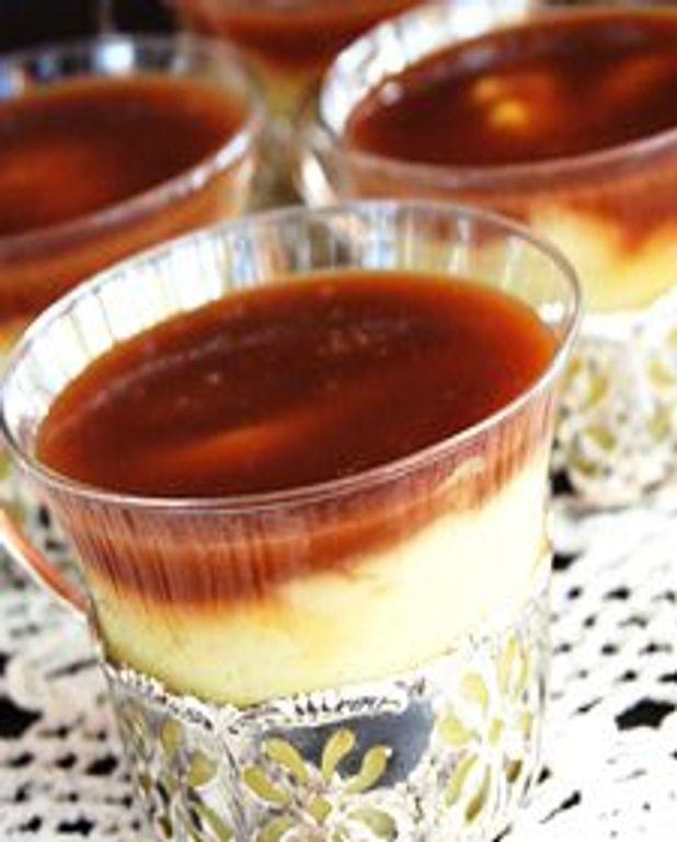 Pots de crème à la vanille bourbon et au caramel à la fleur de sel