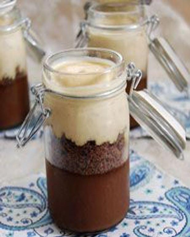 Pots de crème au chocolat, caramel et sel Maldon
