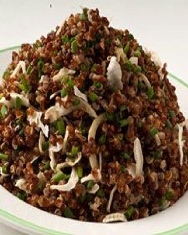 Quinoa rouges aux deux oignons