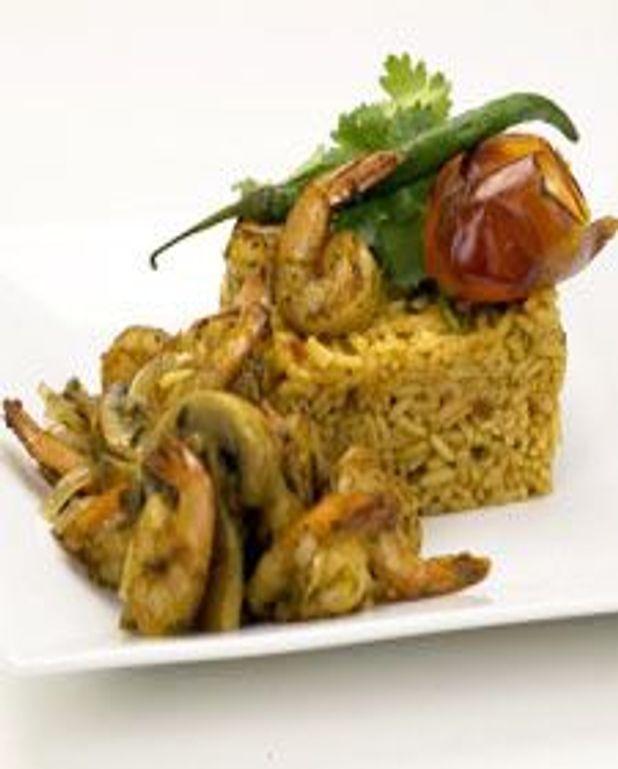 Riz mexicain et crevettes épicées