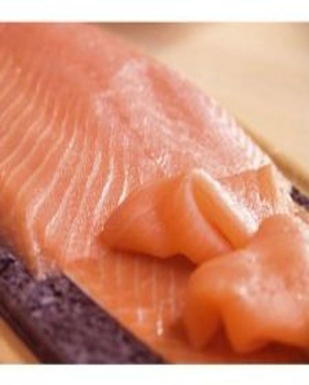 Rôti de saumon en papillote