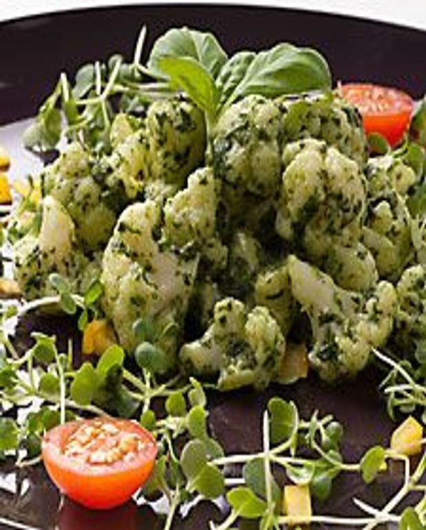 Salade de chou-fleur au pesto