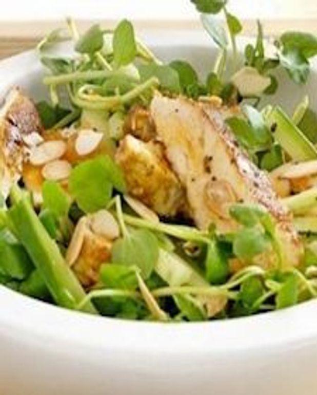 Salade de poulet croquante