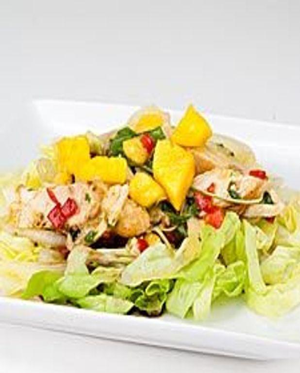 Salade de poulet et mangues