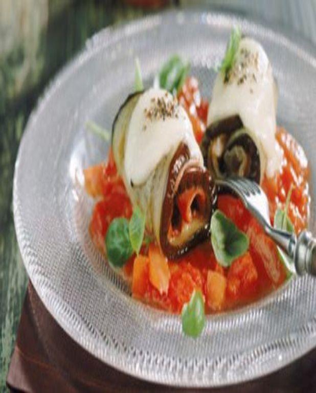 Aubergines mozzarella