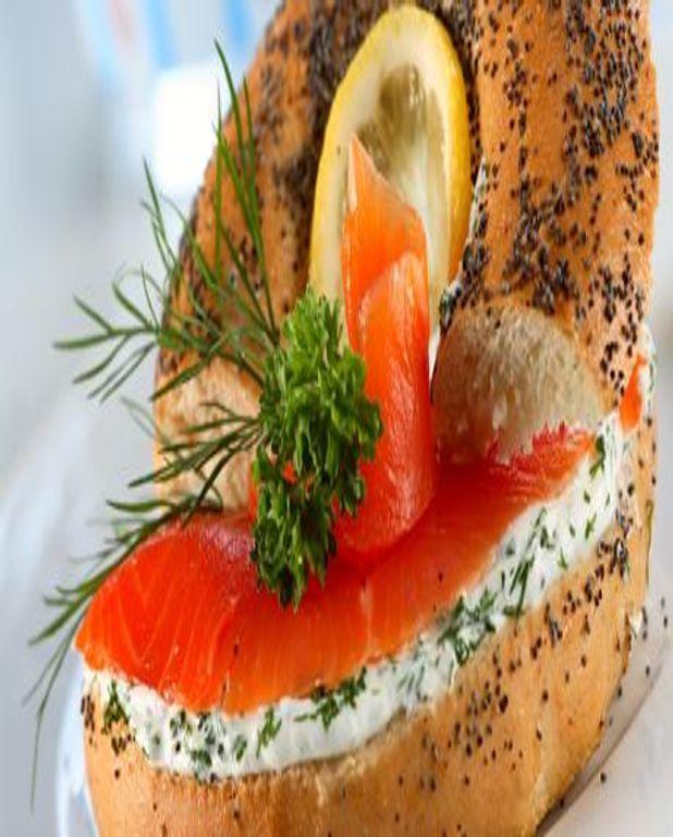 Bagels de saumon fumé