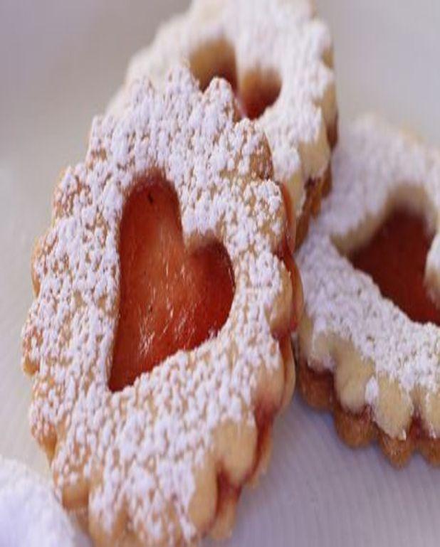 Biscuits en tranches à la confiture