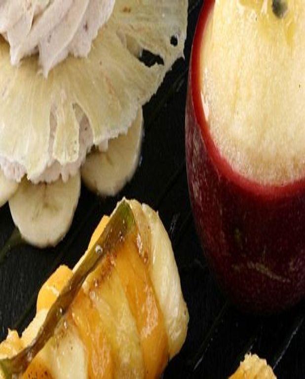 Brochette de Mangues et d'Ananas au piment
