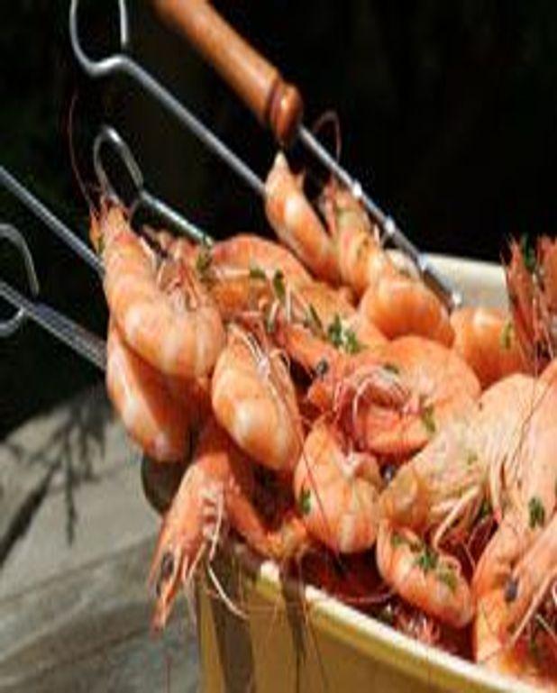 Brochettes de crevettes à la plancha