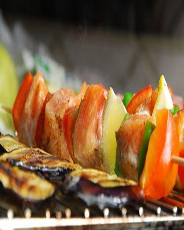 Brochettes de poisson
