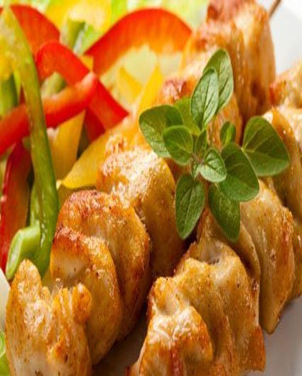 Brochettes de poulet épicées
