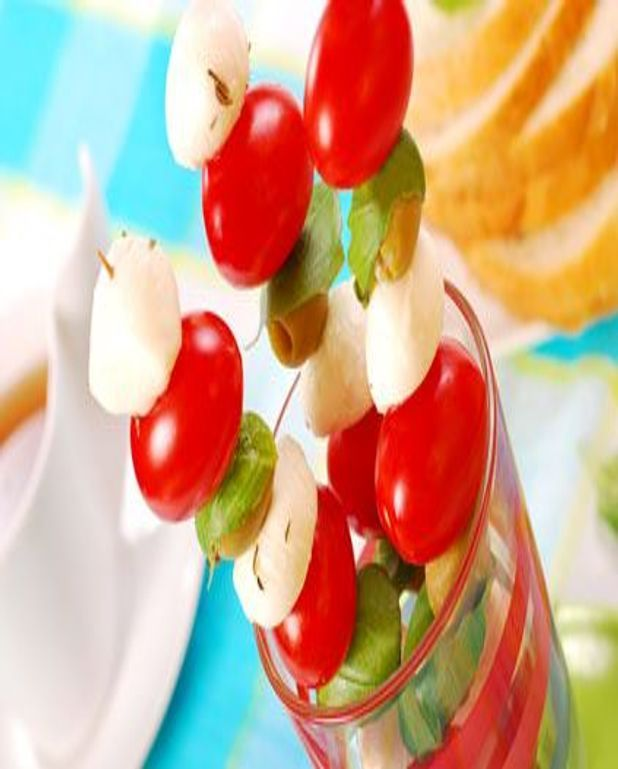Brochettes tomates-mozzarella