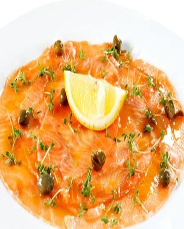 Carpaccio de saumon parfumé